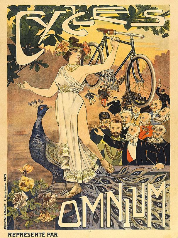 постер реклама велосипеды ретро