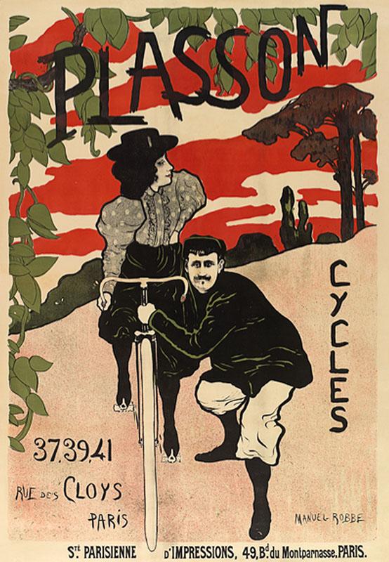 ретро реклама постер велосипеды велосипед девушка