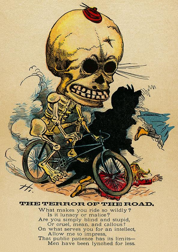 постер велотеррор террор велосипед