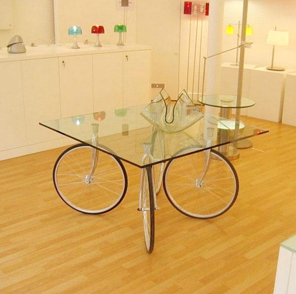 велосипед дизайн интерьера кухонный стол