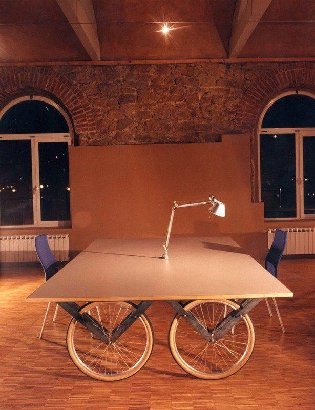велосипед дизайн интерьера стол