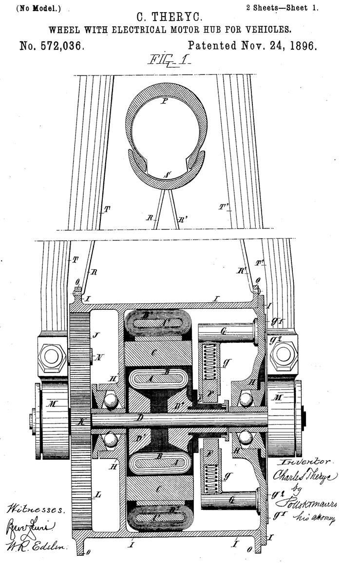 Мотор-колесо Эдварда Паркхерста - История изобретения мотор-колеса