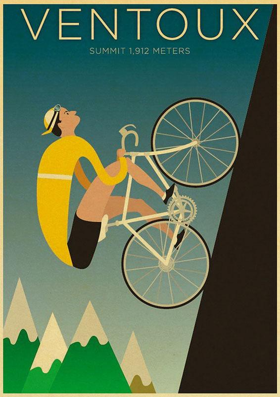 постер Ventoux велогонка