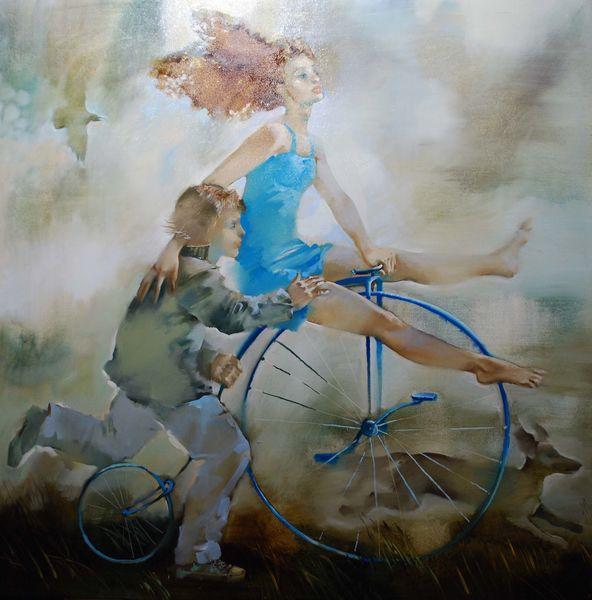 живопись велосипед