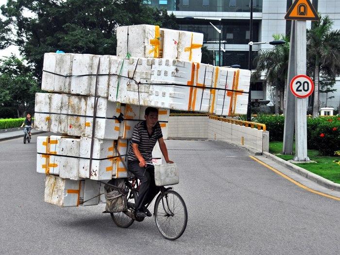 перевозка багажа на велосипеде