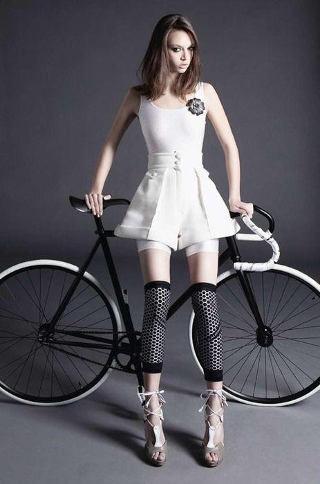 мода девушка шоссейный велосипед