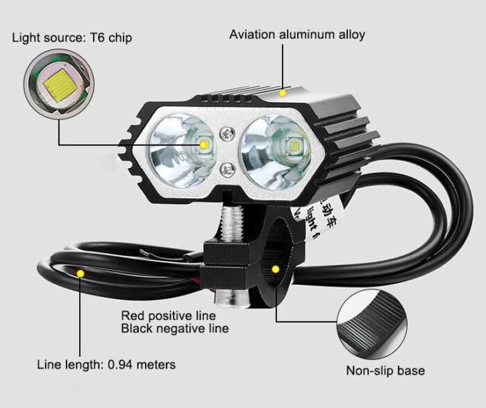 фара светодиодная электровелосипед электросамокат