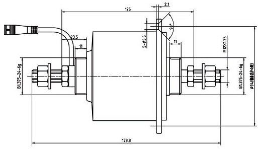 динамо-втулка FLD02 чертеж