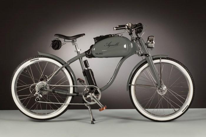 электрический велосипед в стиле ретро