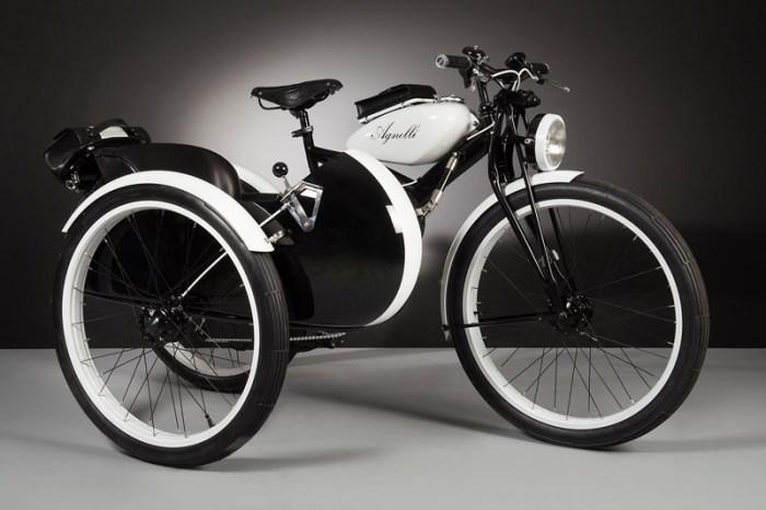 электровелосипед в стиле ретро с коляской Agnelli Milano Bici