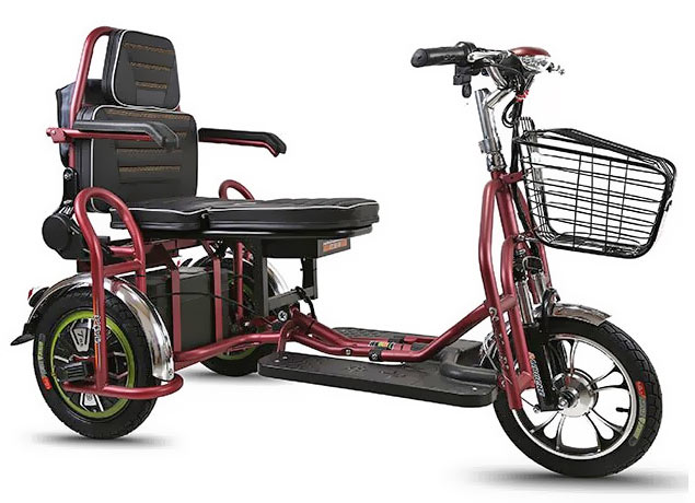Tрехколесный скутер или Электросамокат для пожилых с креслом для людей с ограниченными физическими возможностями