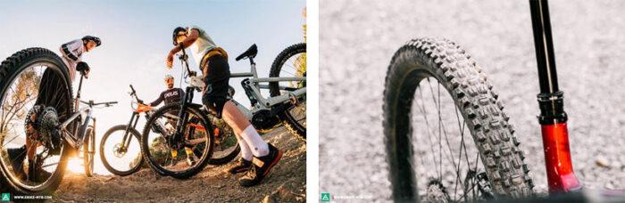 колеса и шины горного электровелосипеда
