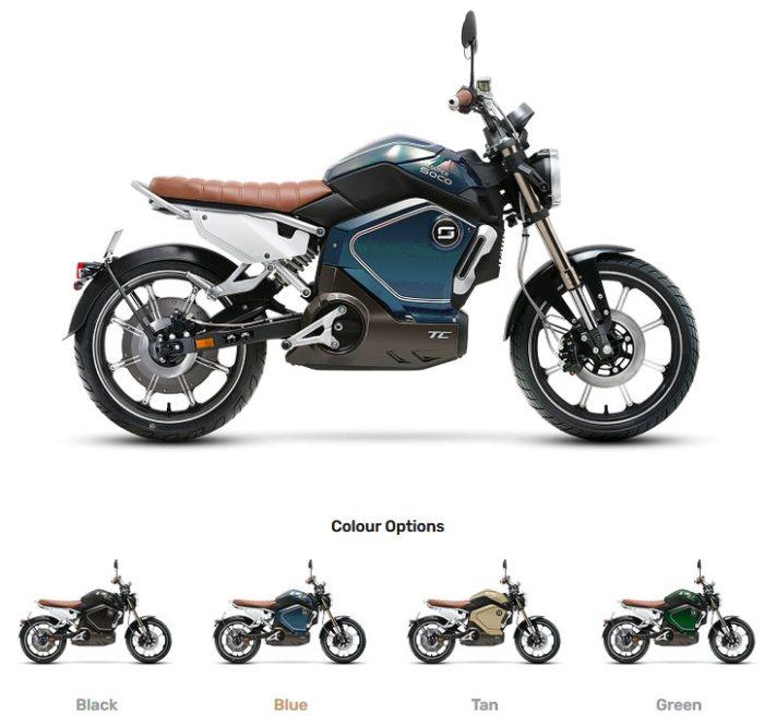 Электромотоцикл Super Soco TC