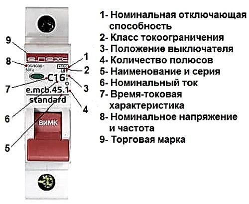 Elektricheski avtomat markirovka