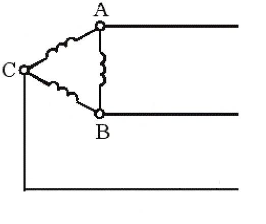 Соединение обмоток двигателя в треугольник
