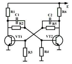 Avtokolebatelnyi rezhim multivibratora 3