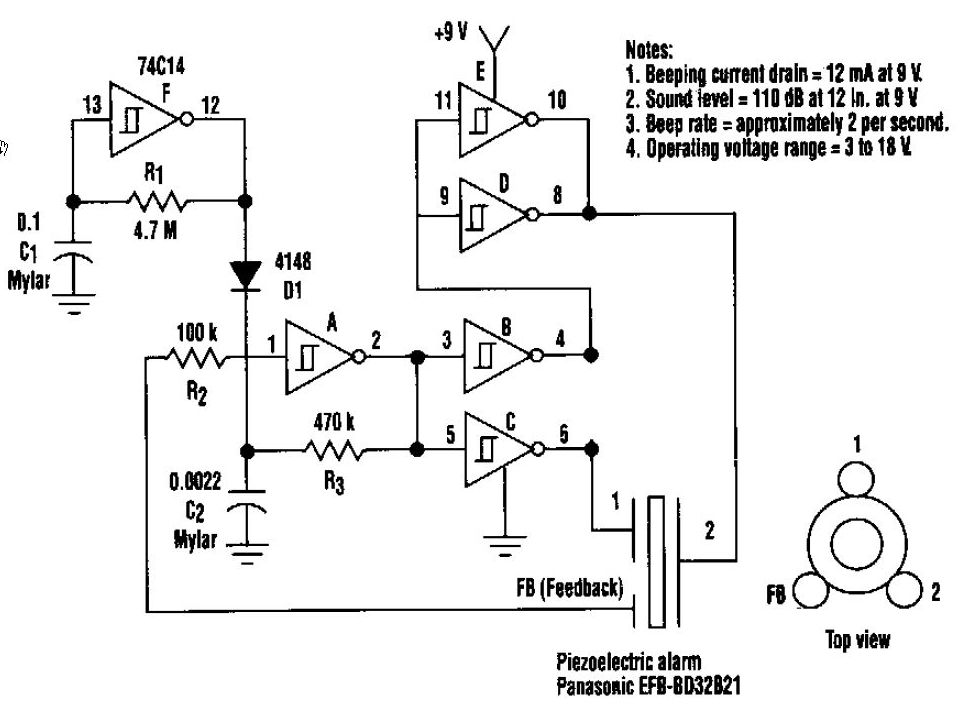 110dB Beeper Circuit