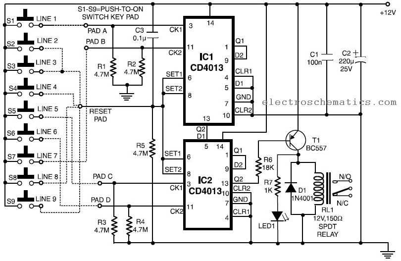 Electronic Key Circuit