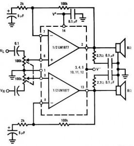LM1877 Audio Amplifier Circuit