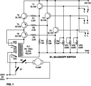 Water Level Indicator/Sensor Circuit