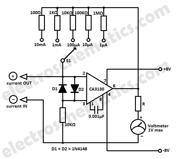 Simple Micro Ampere Meter Circuit