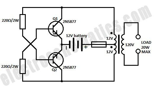 12Vdc To 120Vac Inverter Circuit Diagram