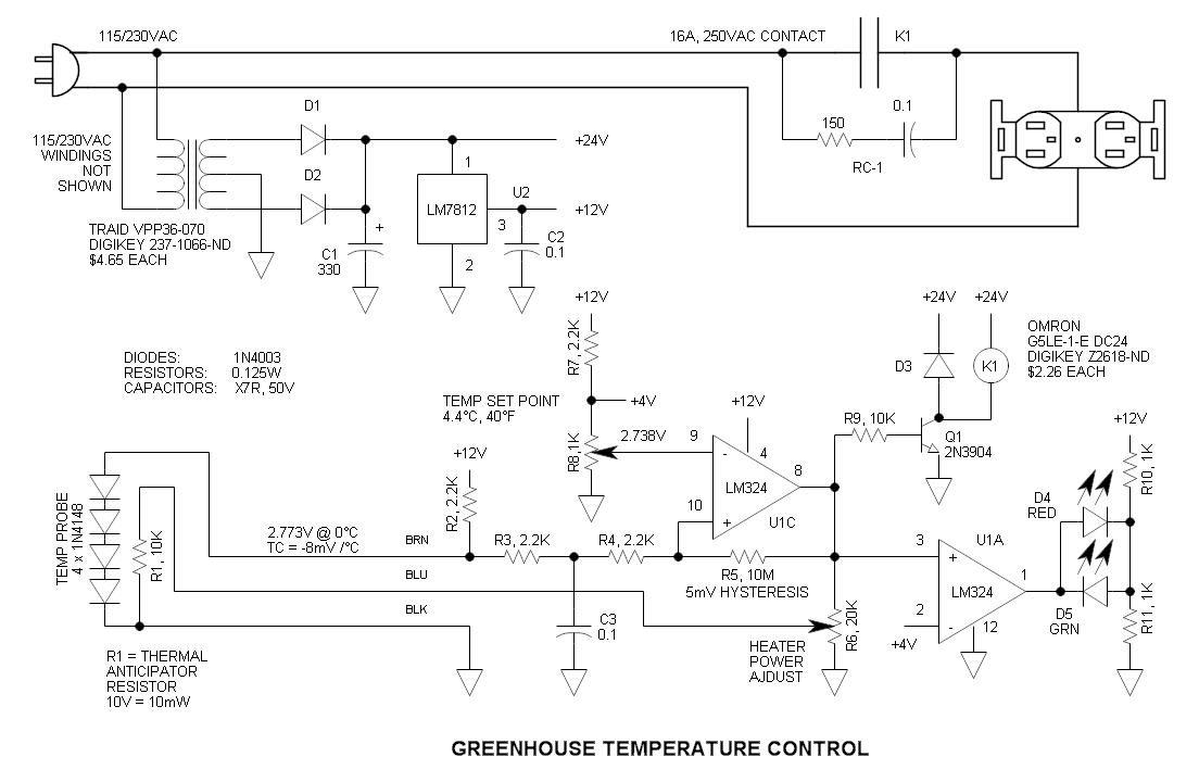 Pid Controller Wiring Diagram 230v Greenhouse Heater Temperature Control