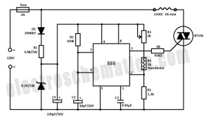 Temperature Controller with 555 Circuit
