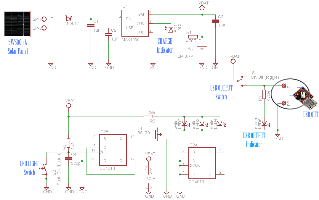 Solar Chargers Circuits And Projects