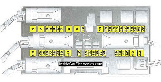 description of the fuse box in the opel astra h. opel astra h: fuse box  cfrs.ru