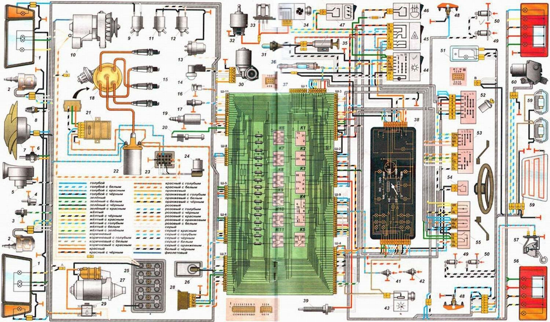 vw t4 wiring diagram f350 death wobble fix ЭЛЕКТРОСХЕМА ВАЗ 2108 - СХЕМА ЭЛЕКТРООБОРУДОВАНИЯ