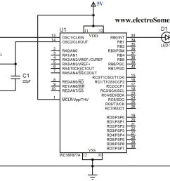 blinking led using pic microcontroller circuit diagram [ 2048 x 1542 Pixel ]
