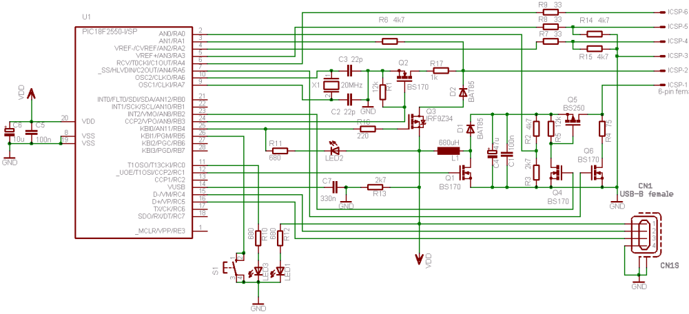 medium resolution of usb pic programmer pickit2 modified circuit diagram