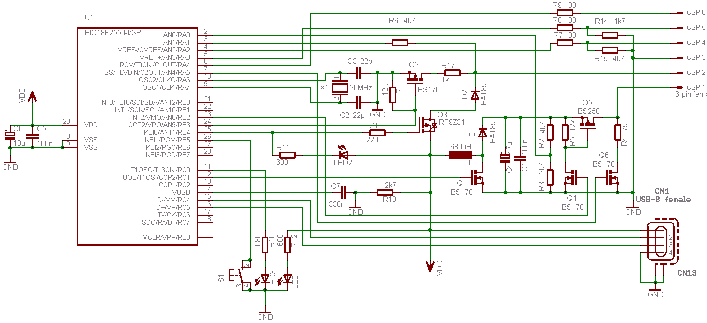 hight resolution of usb pic programmer pickit2 modified circuit diagram