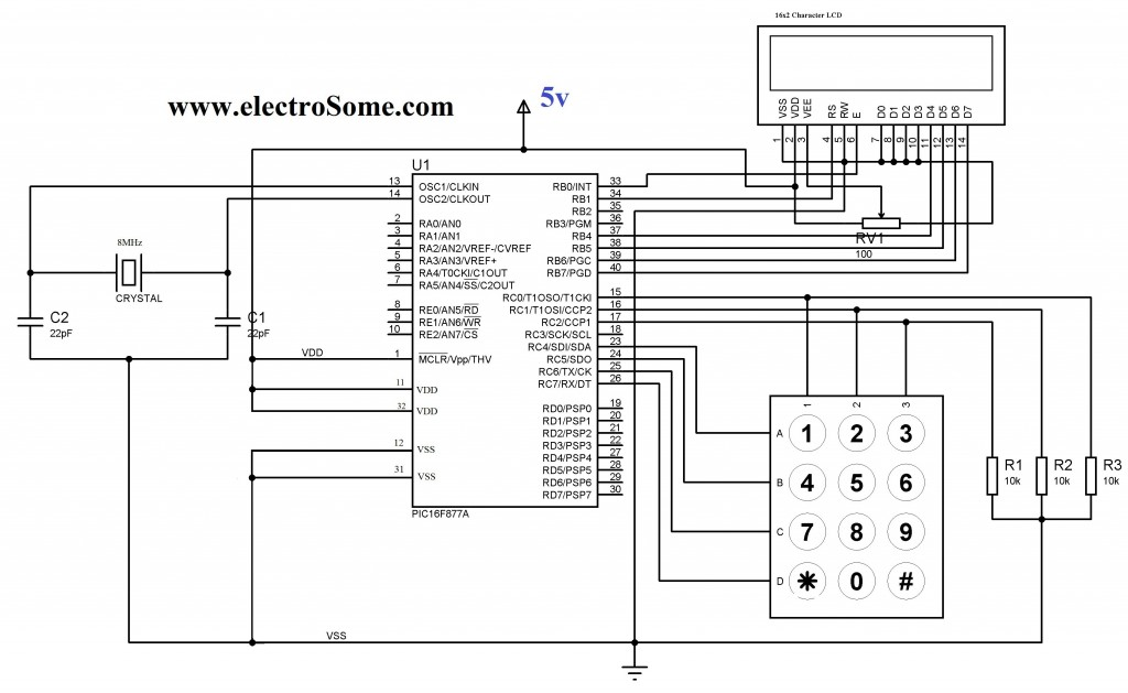 Interfacing Keypad with PIC Microcontroller using MikroC