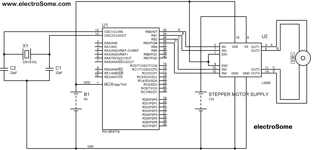 medium resolution of interfacing bipolar stepper motor with pic microcontroller circuit diagram