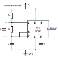 555 Timer Wiring Diagram 4age Distributor Astable Multivibrator Using