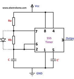 astable multivibrator using 555 timer circuit diagram [ 1269 x 1193 Pixel ]
