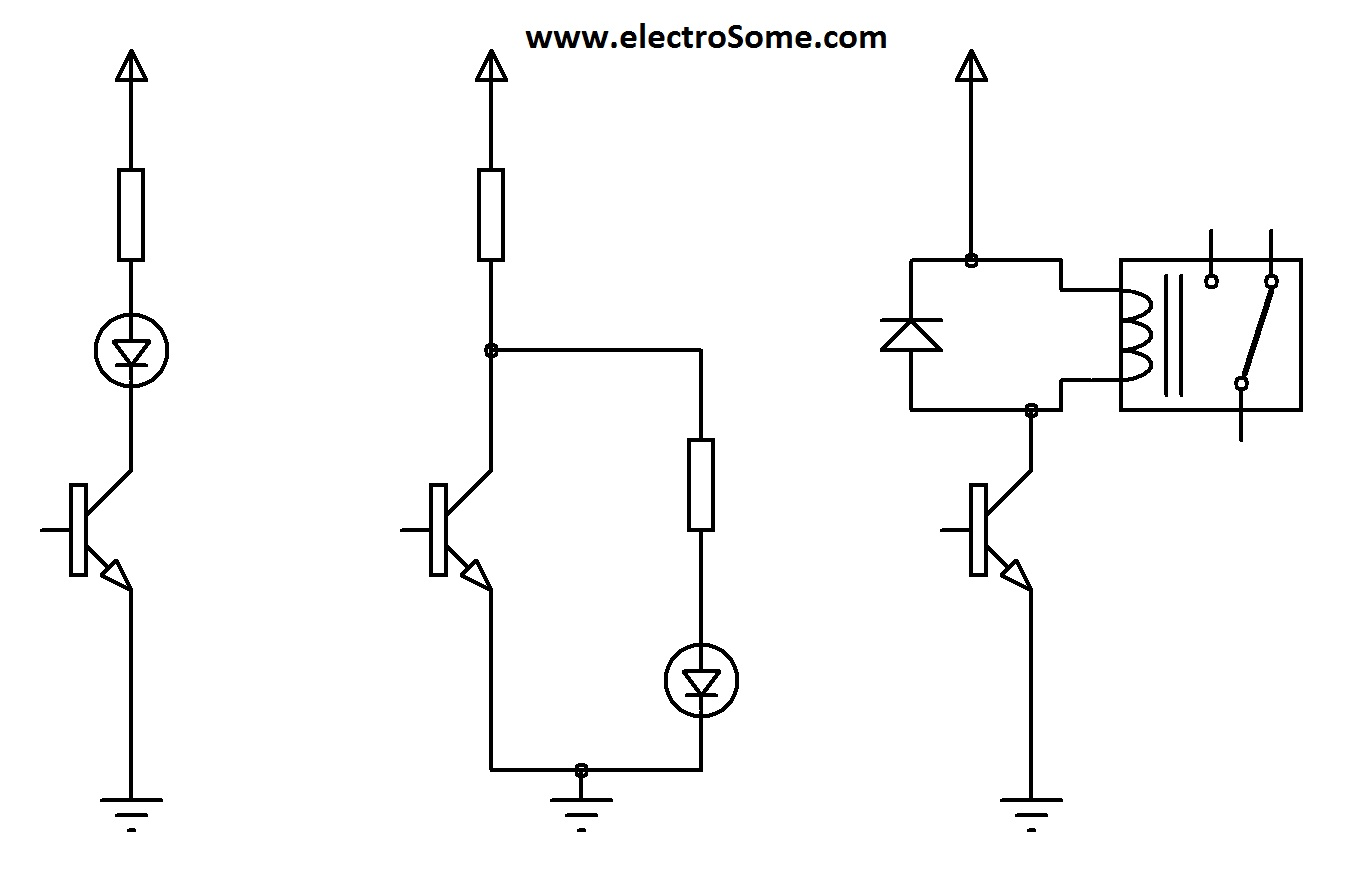 transistor wiring diagram single phase generator switching circuit  the