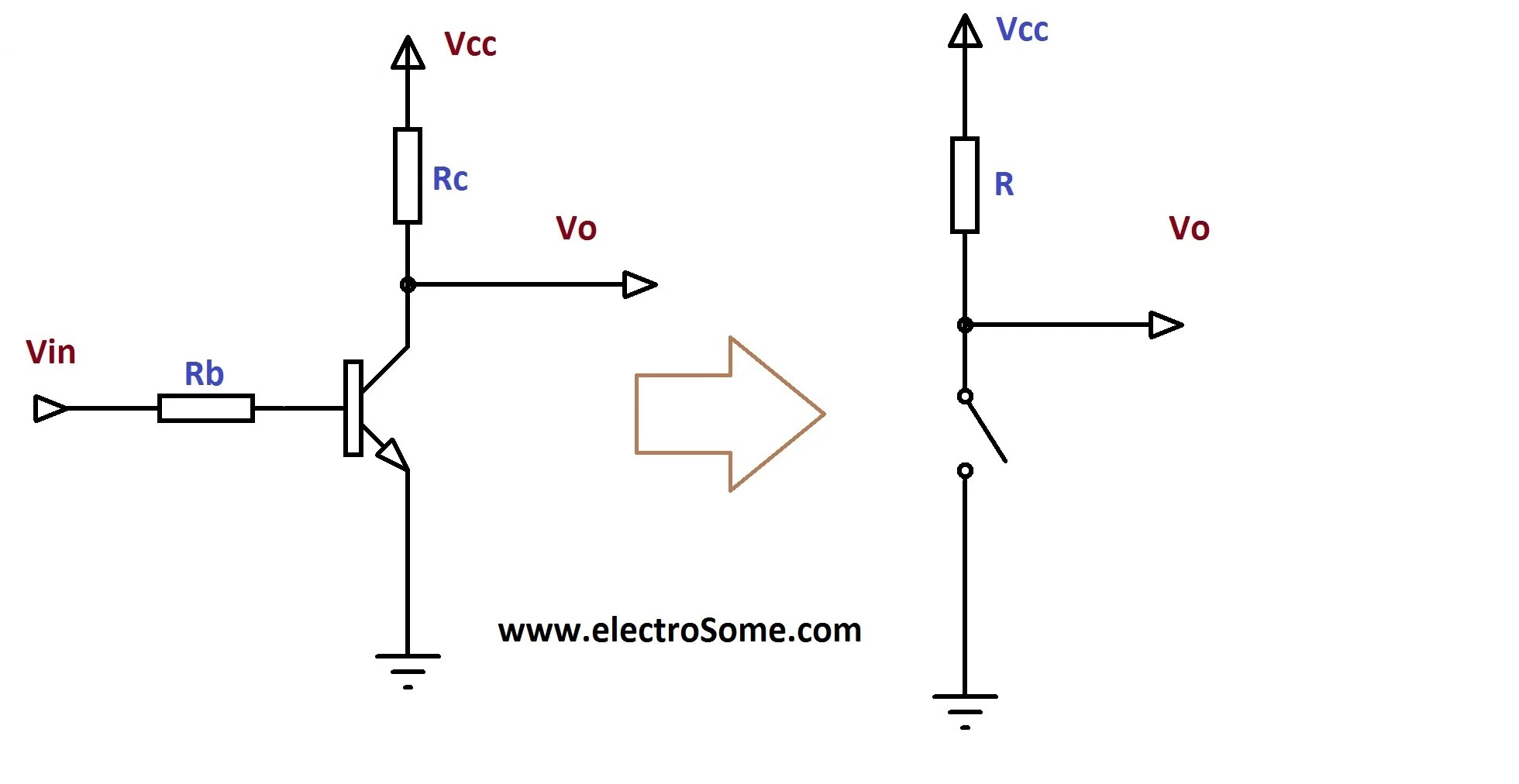 hight resolution of transistor as a switch circuit diagram