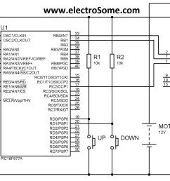 dc motor speed control using pwm with pic microcontroller mikroc brushless dc motor control circuit schematic using microchip pic16f877 [ 2048 x 950 Pixel ]