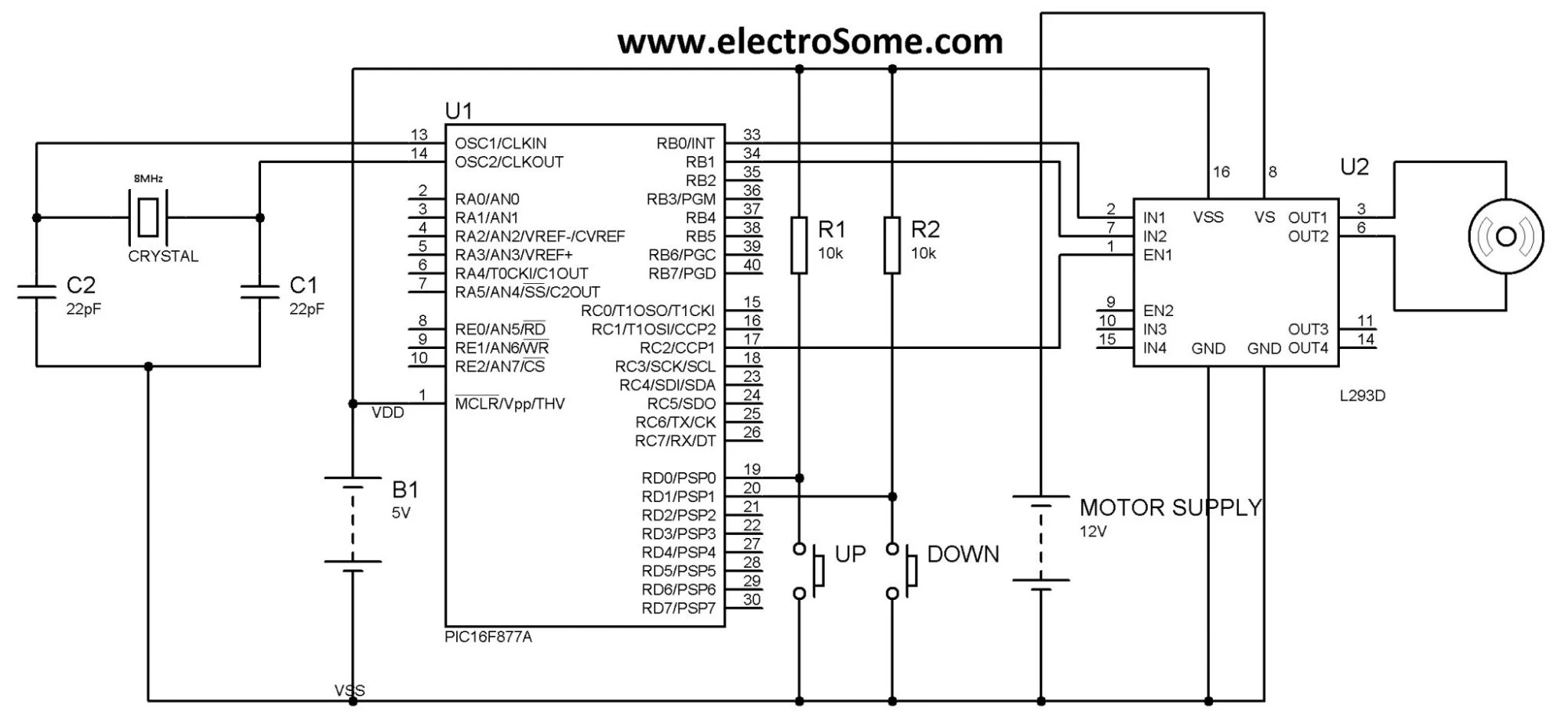 hight resolution of dc motor speed control using pwm with pic microcontroller mikroc brushless dc motor control circuit schematic using microchip pic16f877