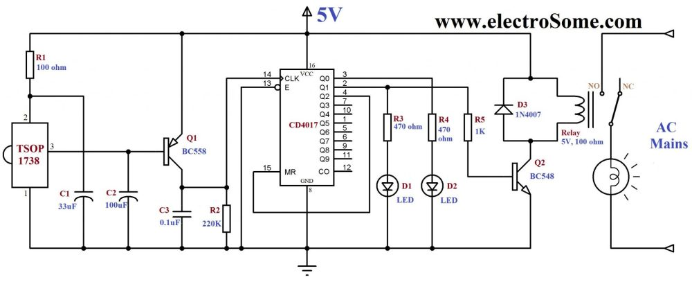 medium resolution of infrared remote control for home appliances ir remote control modulation detector electronic circuit diagram