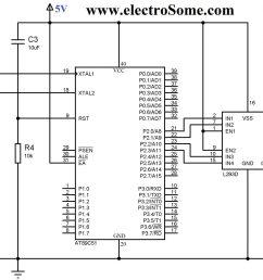 circuit diagram interfacing bipolar stepper motor with 8051 using l293d [ 2048 x 1261 Pixel ]