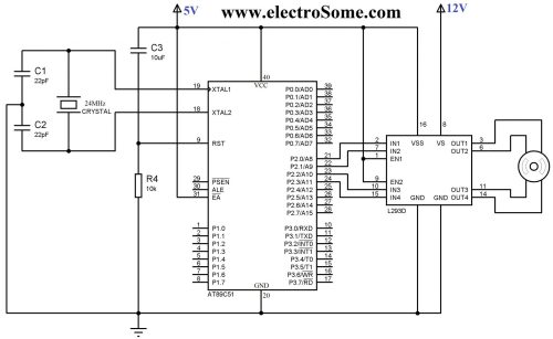 small resolution of circuit diagram interfacing bipolar stepper motor with 8051 using l293d