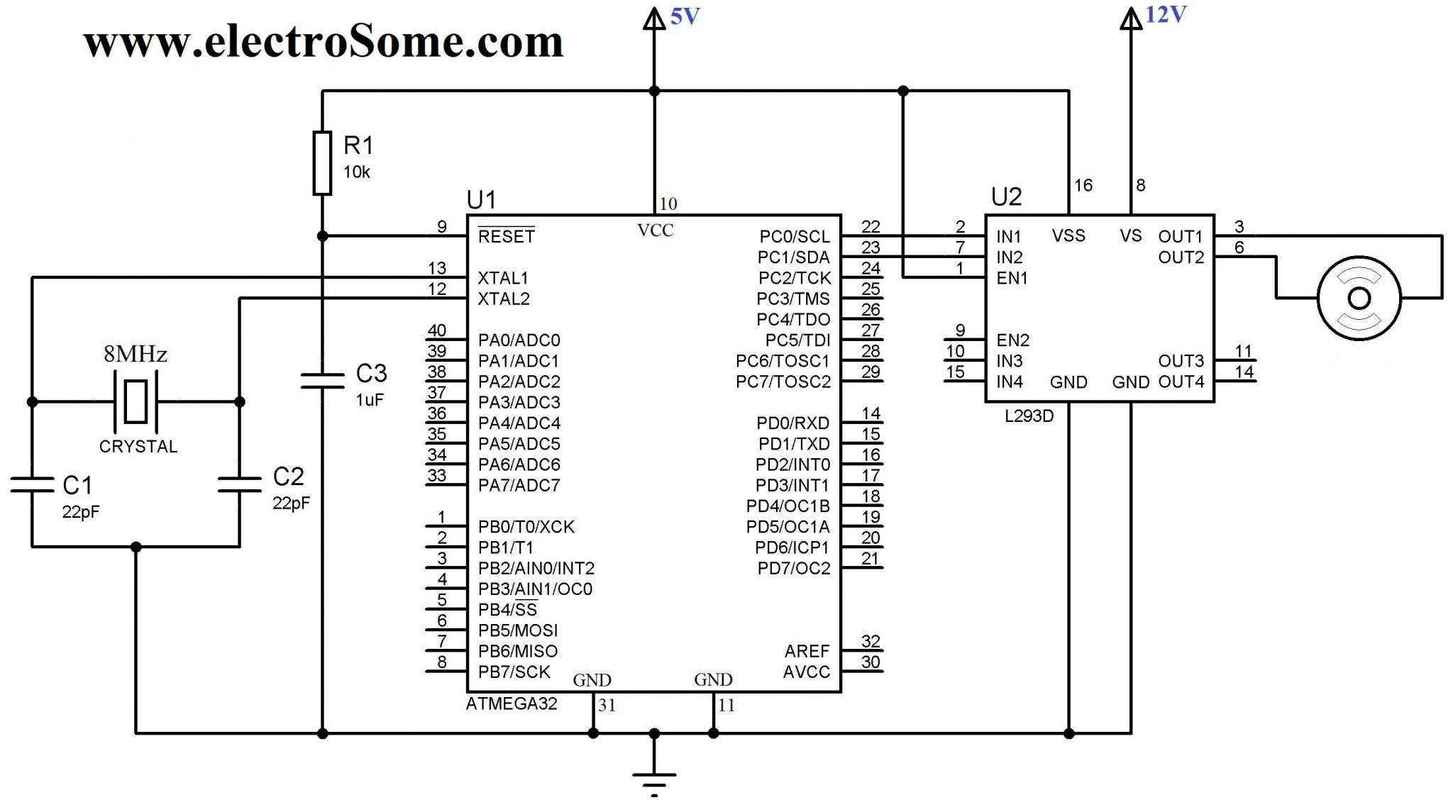 Interfacing DC Motor with Atmega32 Microcontroller Circuit Diagram?resize\\\\\=665%2C370\\\\\&ssl\\\\\=1 tractor motor wiring diagram tractor solenoid wiring diagram tractor generator wiring diagram at gsmx.co