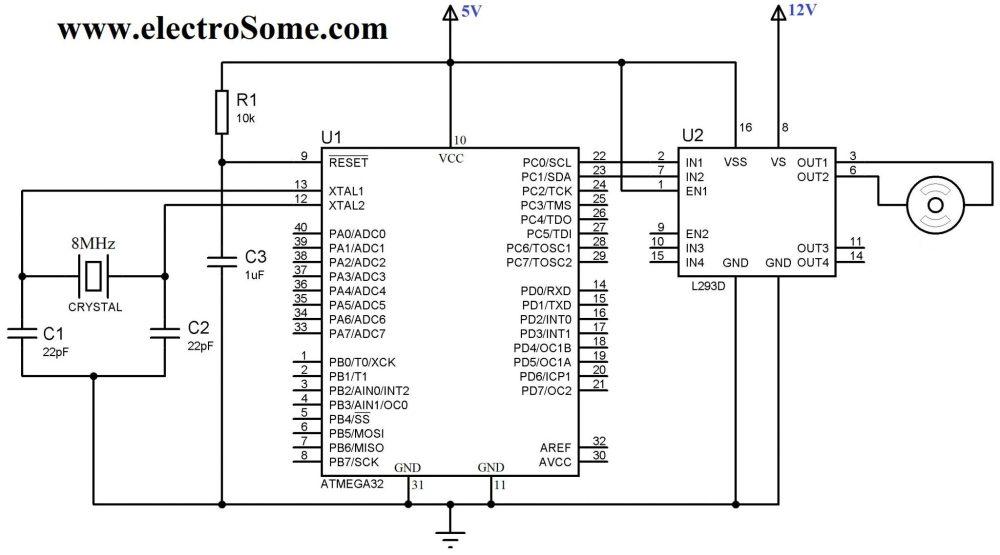 medium resolution of interfacing dc motor with atmega32 microcontroller circuit diagram