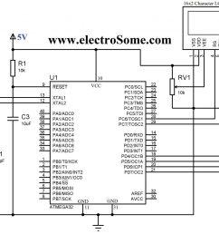 circuit diagram interfacing lcd with atmega32 microcontroller 4 bit mode [ 2048 x 1294 Pixel ]