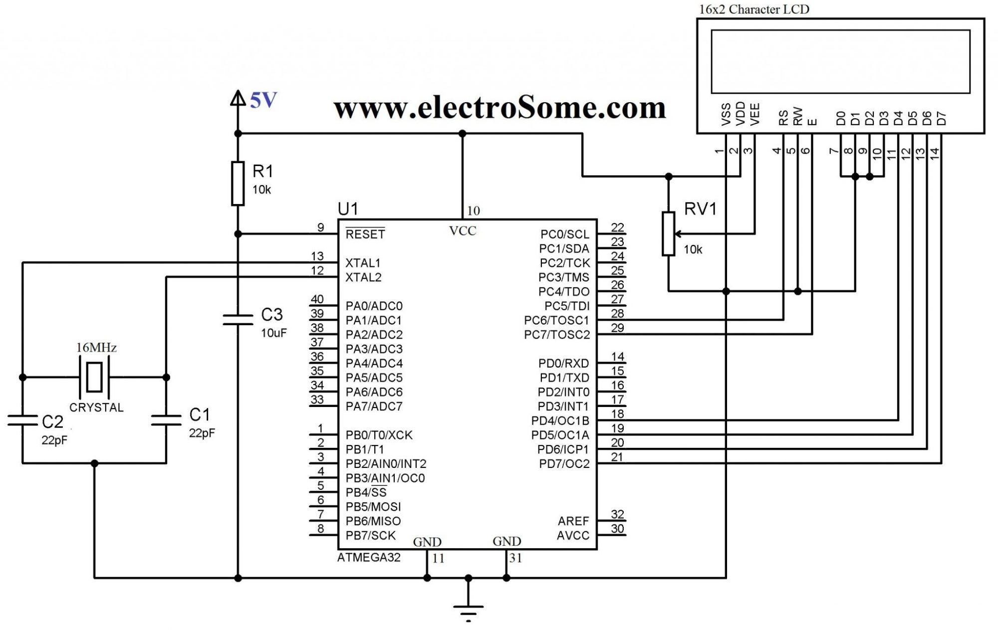 hight resolution of circuit diagram interfacing lcd with atmega32 microcontroller 4 bit mode