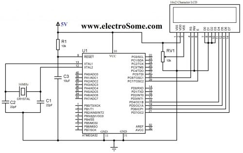 small resolution of circuit diagram interfacing lcd with atmega32 microcontroller 4 bit mode